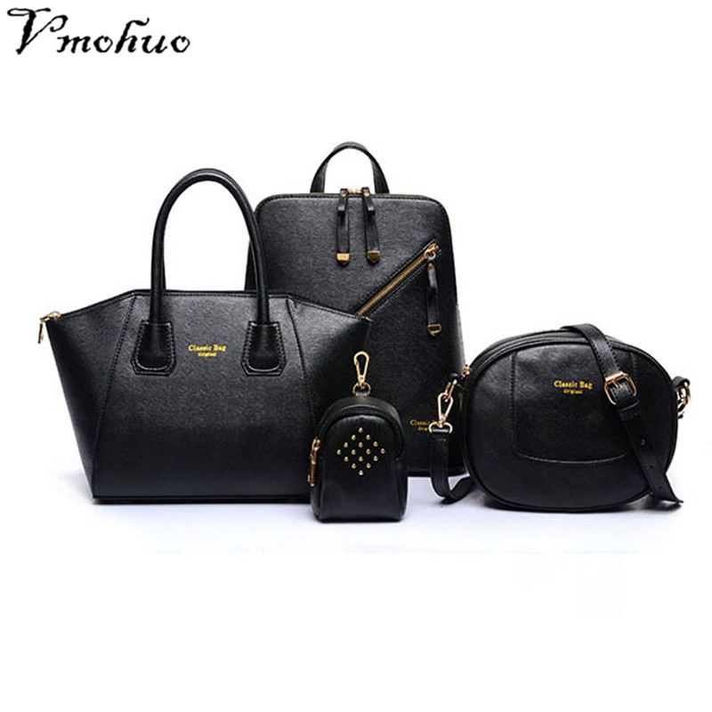 VMOHUO 4pcs/set Luxury Women Composite Bags Fashion Female Leather Handbags Cute Girls Crossbody Bags and Small Key Bags Holder 2