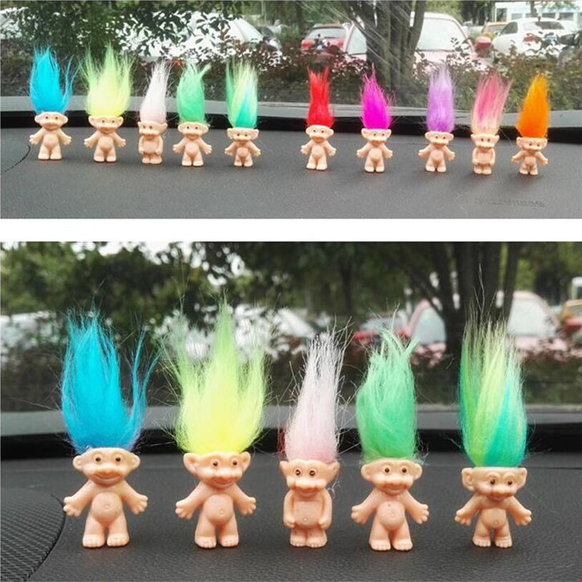5 Pcs/Set Trolls Anime Figure PVC Doll Family Daddy Mummy Baby Boy Girl Dam Action Figure Hot Toys For Children Birthday Gifts