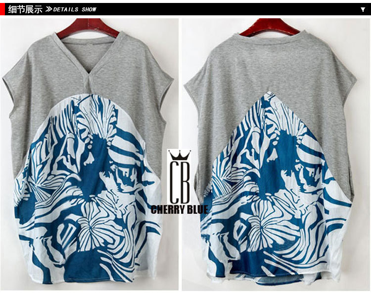 2016 Baru Musim Panas Longgar T Shirt Ukuran Besar Pencetakan wanita - Pakaian Wanita - Foto 4