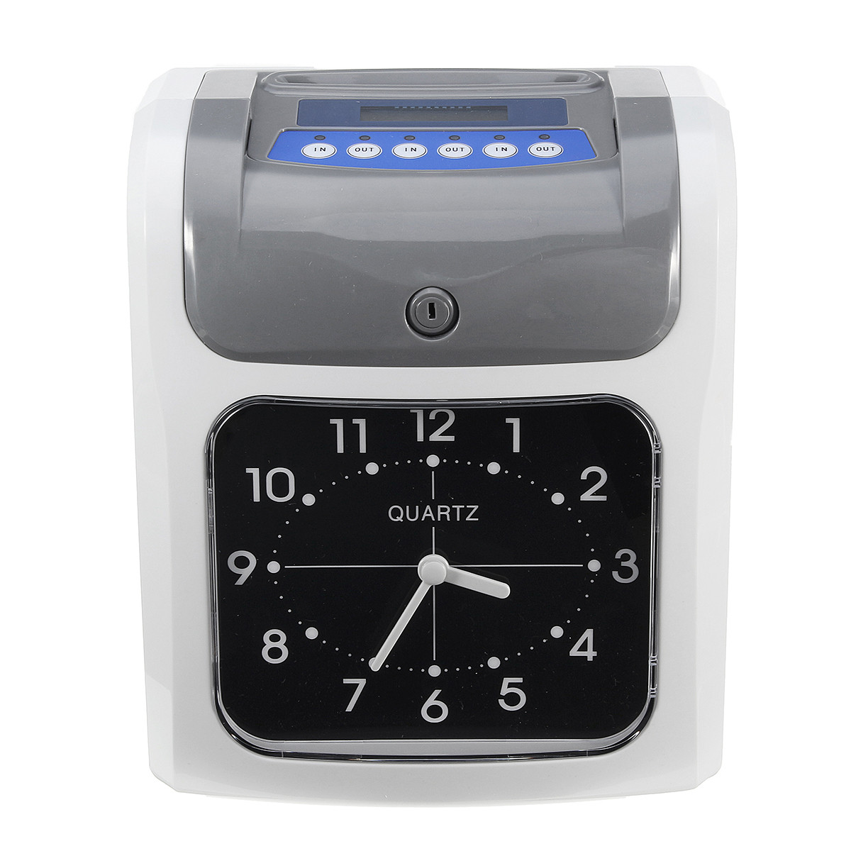 Newest Electronic Employee Attendance Time Clock In Out Recorder Desktop Timecard with Time Clock Cards Keys woodi вешалка time out