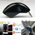 Venda quente mini Bluetooth Car Kit Mãos Livres Bluetooth Apoio Receptor linha aux adaptador para fora para a música para o iphone para celular telefone
