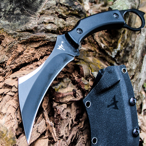 Image 4 - Karambit 전술 칼 야외 사냥 칼 생존 고정 블레이드 나이프 클로 Machete 정글 전투 나이프 캠핑 EDC 손 도구