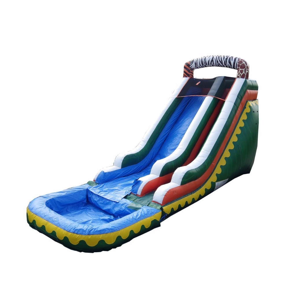 Customized size special design inflatable water slide,inflatable pool slide for kids