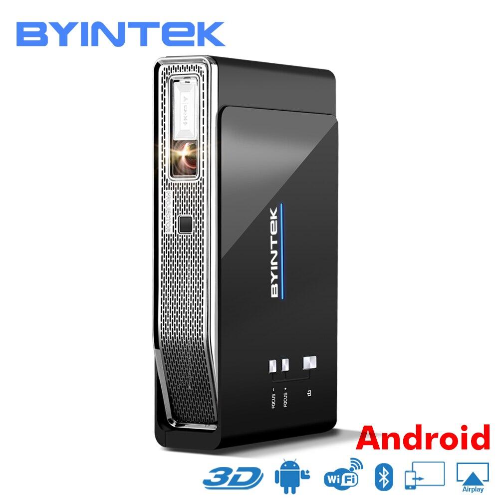 BYINTEK НЛО R15 Smart Android WI-FI видео дома Театр светодио дный Портативный лазерной USB Mini HD DLP 3D проектор для Full HD 1080p HDMI 4 К