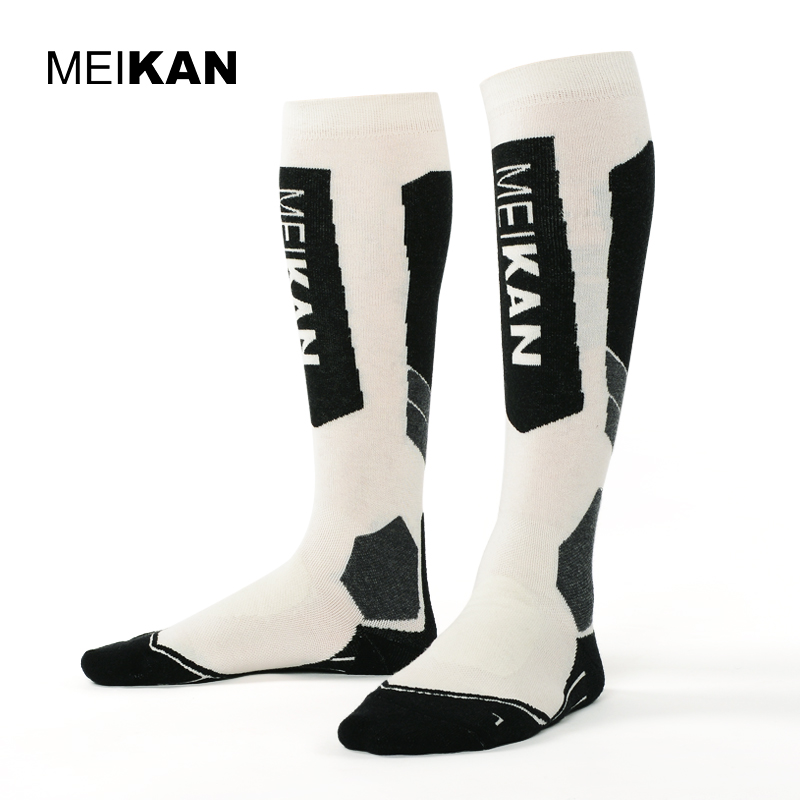 MKSK2017002 High Quality Men/Women Mercerized Merino Wool Ski Socks Outdoor Thicken Terry Thermal Sports Long Socks Knee High