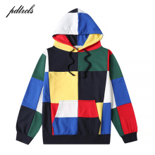 pdtxcls 49 New Patchwork Color Block Hoodies Mens 2018 Hip Hop Sleeve Cotton