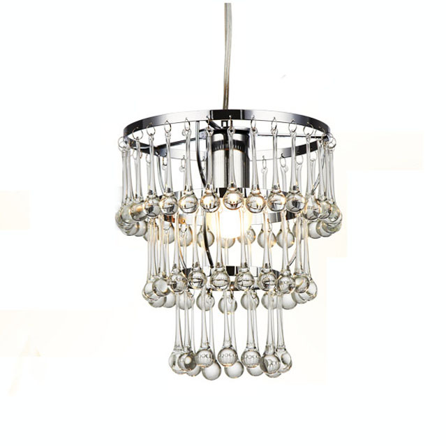 3 Tiers Crystal Pendant Light Free Shipping Crystal Glass Water Drop Bedroom Living Dining Room Kitchen Pendant Fixture Lighting