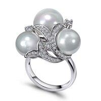 Deluxe 3 Pearls Luxury Jewelry Fashion New Trending Product Bijoux Shell Wedding Accessories Fancy Women Gift