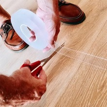 1m/3m/5m Monkey Grip Tape Nano adhesive Traceless Magic Film Household Daily Use Double Faced Adhesive transparent