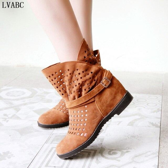 2018 ผู้หญิงใหม่ฤดูร้อนรองเท้าแบนต่ำที่ซ่อน Wedges Cutout ถึงขารองเท้าสุภาพสตรีชุดลำลองรองเท้าขายร้อนน่ารัก
