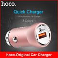 Hoco USB Car Charge 12V 24V Input Quick Charge 2.0 1 Universal USB Car Charger USB Car Charger for Xiaomi iPhone Samsung Galaxy