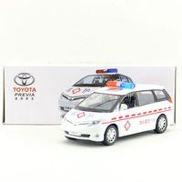 Brand New YJ 1 32 Scale Car Model Toys JAPAN TOYOTA PREVIA Sound Light Diecast Metal