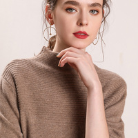 Winter Sweaters Women 100% Pure Cashmere Knitting Jumpers New Arrival 4Colors Soft Close fitting Skin Pullovers lady Thick Cloth