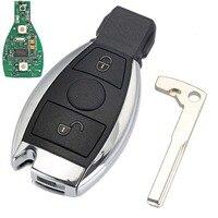 2 Knoppen Keyless Entry Afstandsbediening Autosleutel 433 MHz voor Mercedes BENZ 2000 + met NEC & BGA Sleutel Shell vervanging Case D25
