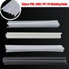 50pcs Plastic Welding Rods ABS PP PVC PE Welding Sticks 200x5x2mm For Plastic Welders Tool