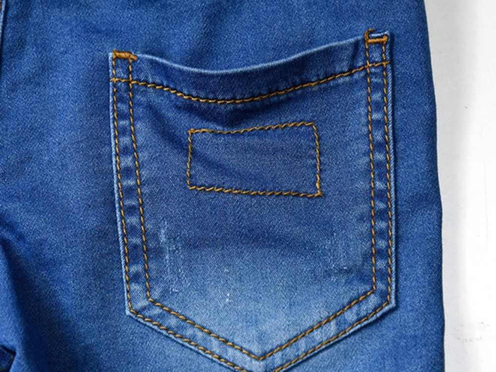 1-12T yüksek kaliteli yaz çocuklar şortları erkek Denim pantolon kot kırpılmış pantolon erkek kısa pantolon bebek giyim çocuk giysileri