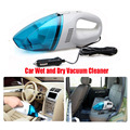 Portable car vacuum cleaner wet and dry dual use with power 65W 12V 2 meters of cable, super absorb car waste, freeshipping