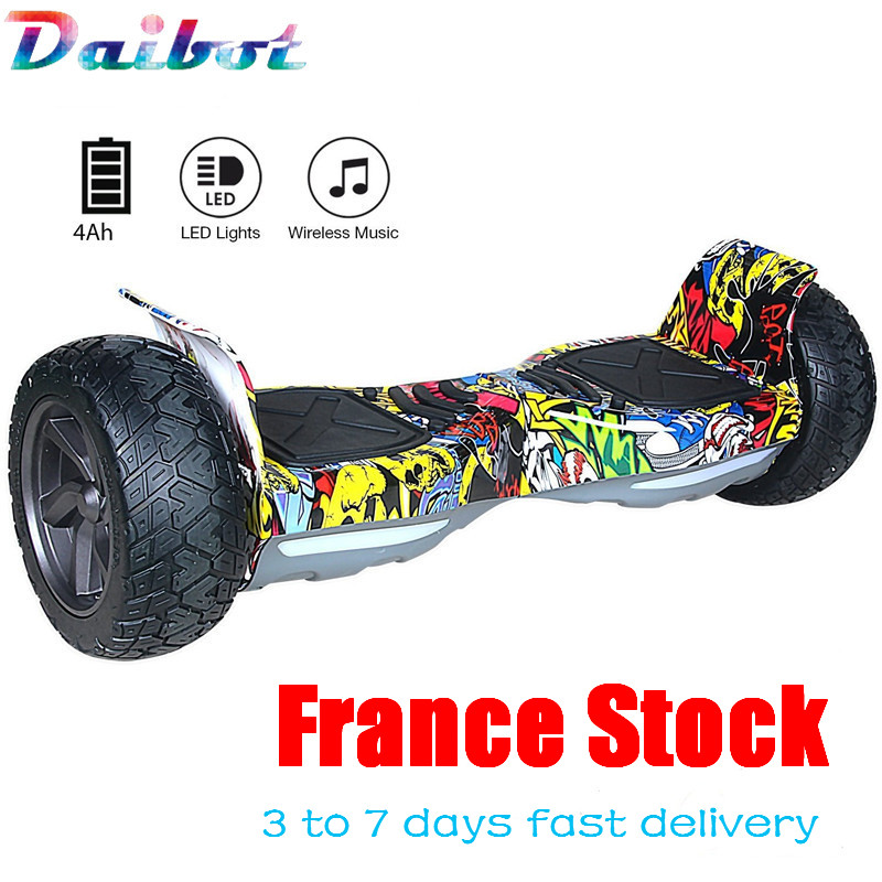 France USA Stock 8.5 inch Bluetooth Hoverboard Self Balancing Electric Scooter Skateboard Smart Balance Wheel new rooder hoverboard scooter single wheel electric skateboard