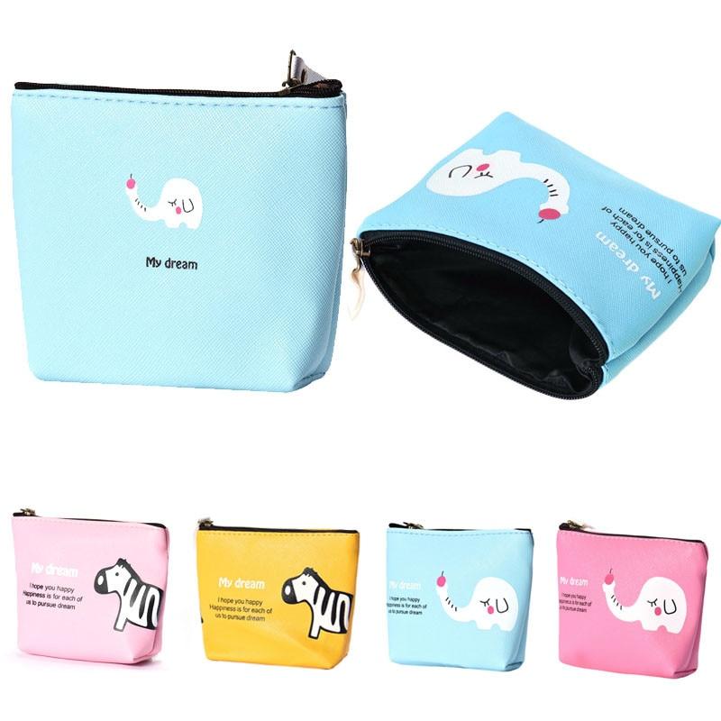 2017 New Women Small Coin Purse Waterproof Pencil Case Cute Portable Key Coin Purse Makeup Bag portemonee kinderen