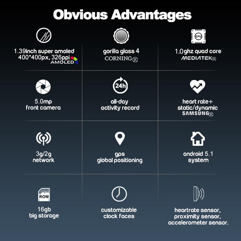 Zeblaze 3G GPS Smartwatch 1.39inch - Android 5.1 1