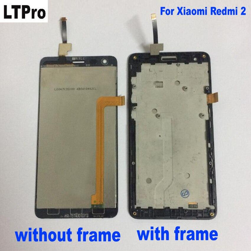 LTPro Display LCD Touch Screen Digitizer Assembly Con Frame Per Xiaomi Redmi 2 Rosso mi2 Hongmi 2 Del Telefono Mobile di Ricambio parti