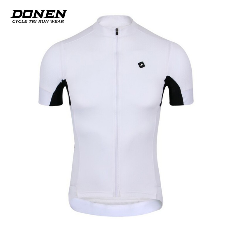 3f6f28714 Donen 2017 Men White Quick Dry Fresh Short Sleeve Breathable Cycling Jersey  Road Bicycle Sportwear Bike