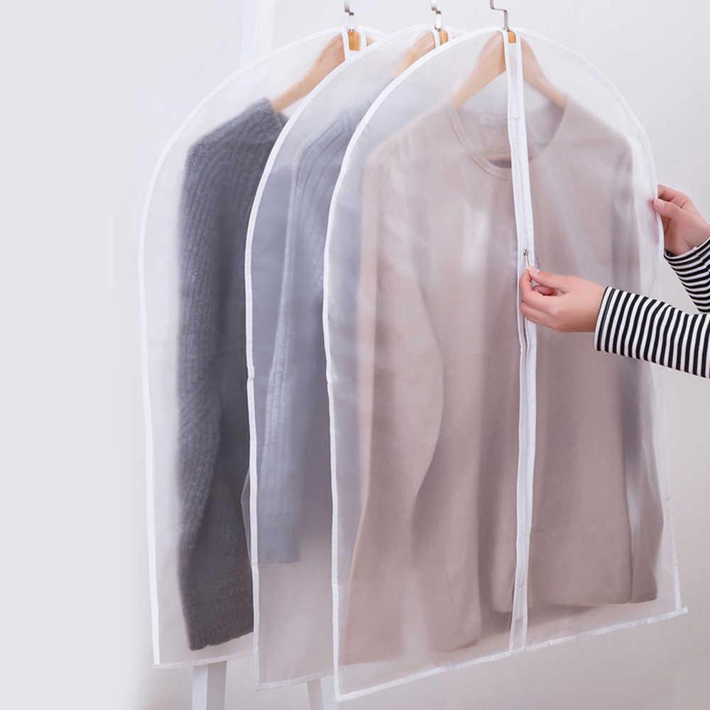 c228575cfa88 6pcs/set Clothing Covers Clear Suit Bag Moth Proof Garment Bags Breathable  Zipper Dust Cover Storage Bags for Suit Dance Clothes