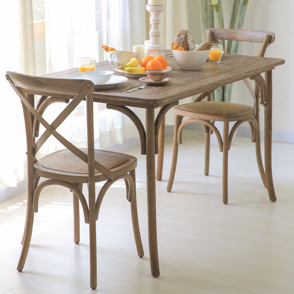 Retro dinette table combination of solid wood bar tables and chairs - Retro Dinette Table Combination Of Solid Wood Bar Tables And Chairs Retro Dinette Table Combination
