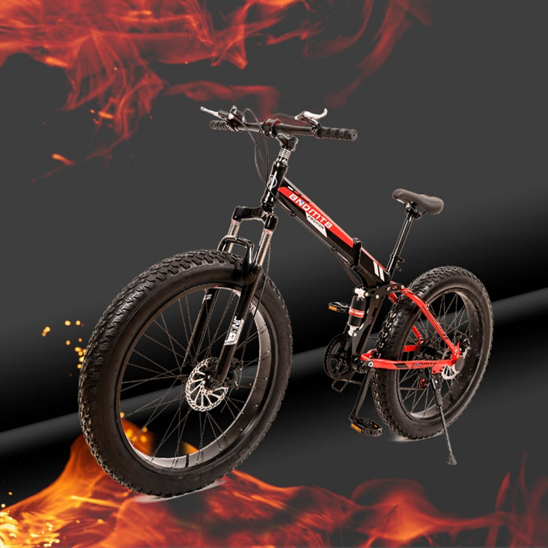 (Only for Russia) High-Quality Folding Bicycle, 26 inches, 7 Speed, 21 Speed, 26x4.0  Front and rear damping bike,Mountain Bike mountain bike four perlin disc hubs 32 holes high quality lightweight flexible rotation bicycle hubs bzh002