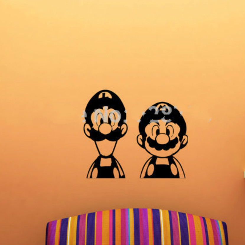 Online Shop Free Shipping Funny Super Mario And Luigi Wall Stickers