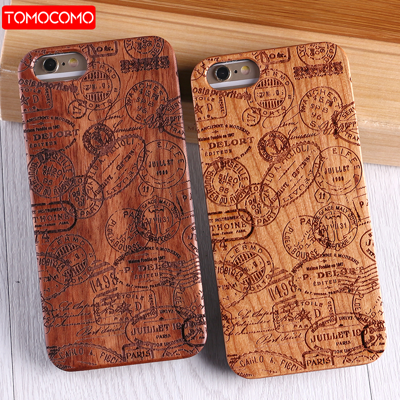 TOMOCOMO Real Bamboo Stereo Pattern Wood Case For iPhone 7 6Plus 8 8Plus Coque Phone Accessories For SAMSUNG S8 S9 Plus Cover