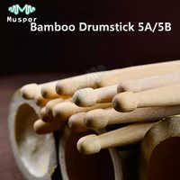 1 Pairs Bamboo Drumstick 5A / 5B Drum Sticks Beginner