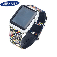 Lerxiuer canvas strap for Apple Watch Band iwatch 4 band 42mm 44mm 38mm 40mm bracelet watch accessories apple 3 2