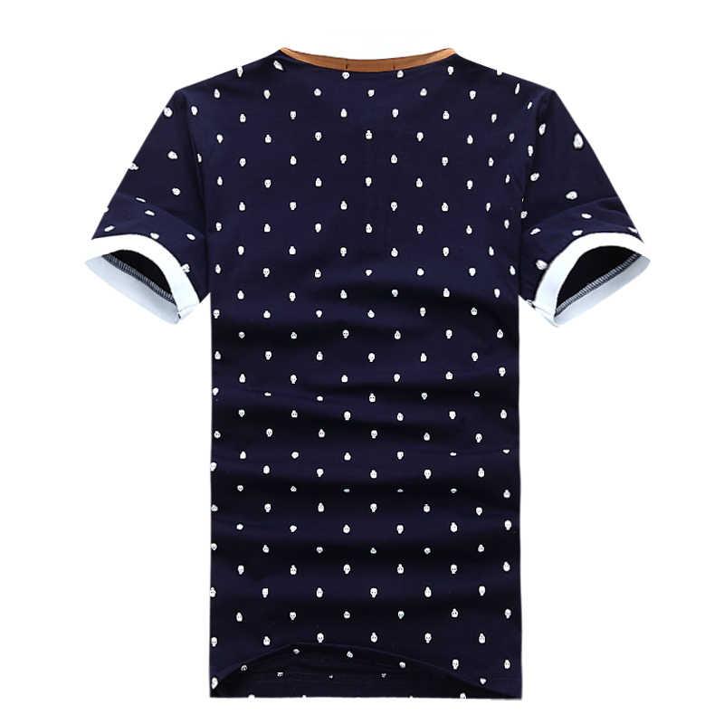 MIACAWOR Neue Polo shirt Männer 95% Baumwolle Sommer Hemd kurzhülse Poloshirts Mode Schädel Dots Drucken Camisa Tops Tees MT437