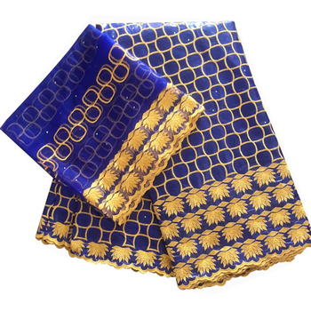 royal blue bazin riche fabric with stones bazin brode getzner high quality african bazin lace for women dress