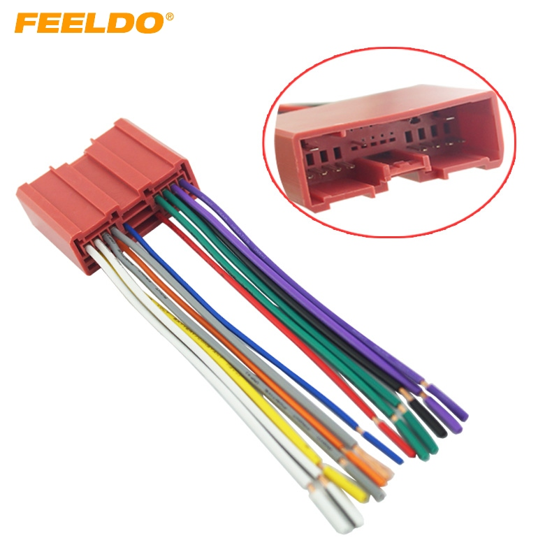 feeldo 5pcs car radio cd player wiring harness audio. Black Bedroom Furniture Sets. Home Design Ideas