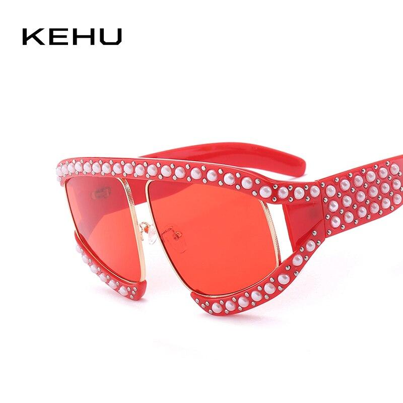 KEHU Weibliche Drei Farben Große Sonnenbrille Frauen Marke Designer ...