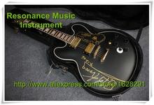 Heißer Verkauf ES Gitarre Hohlkörper Jazz Guitarra B. B. King Signature Mattschwarze Oberfläche