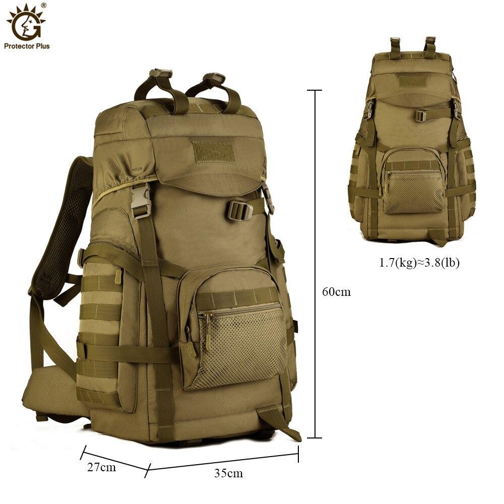 60L sac à dos de grande capacité en plein air tactique Molle armée sac à dos hommes militaire sac à dos escalade Sport sac de voyage Mochila - 5