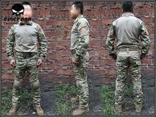 Эмерсон gen2 в боевой Единый комплект боевой рубашка и брюки с наколенники & локоть площадку Многокамерный EM2725