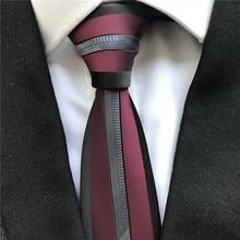 Уникальные Дизайнерские мужские облегающие Галстуки модная панель с окаймленным галстуком бордовый с серебряной полосой посередине