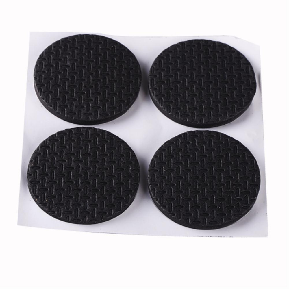 Abrasives Gsfy Wholesale 18 Pcs Self Adhesive Black Foam Table Chair Leg Pad Protector Long Performance Life