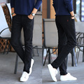 Calças dos homens roupas de marca 2016 moda Casual dos homens calças Jogger calças Slim Fit calça reta Pantalon Homme Plus Size 28 - 38