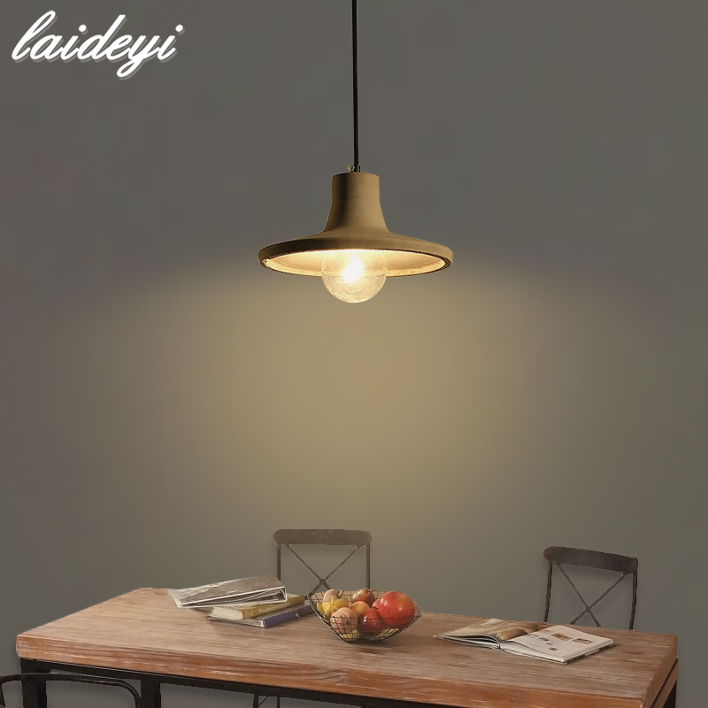 LAIDEYI Concrete Pendant Light Natural Cement Suspension Lamp Design Nordic Hanging Lighting Dinning Room Restaurant Hotel willlustr concrete pendant light cement suspension lamp minimalist design nordic hanging lighting dinning room restaurant hotel