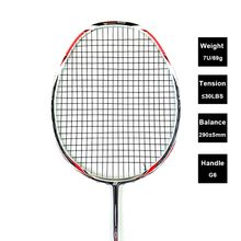 LOKI N90III Professional Carbon Badminton Racket 7U 67g 30 LBS Strung Badminton Racquet Sports Equipment with Grips(China)