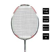 LOKI N90III Professional Carbon Badminton Racket 7U 67g 30 LBS Strung Badminton Racquet Sports Equipment with Grips