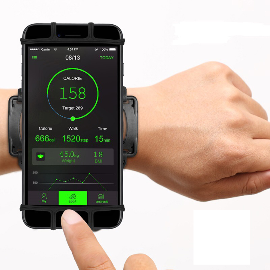4-6in corriendo bolsa teléfono brazalete corriendo bolsa Correa Jogging deporte gimnasio brazo banda brazalete Teléfono para accesorios de fitness