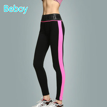 Beboy New High Stretch Yoga Pants Women High Waist Running Tights Leggings Anti-sweat Patchwork Workout Gym Sport Leggings