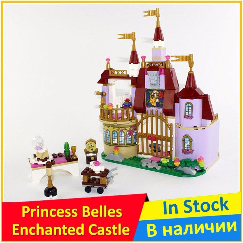 цена на Princess Belles Enchanted Castle 41067 Building Blocks Model Toys For Children BELA 10565 Compatible Friends Bricks Figure