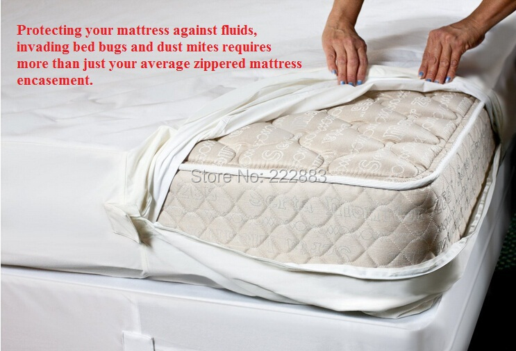 Usa Twin 38 75 6 Smooth Zippered Waterproof Mattress Cover Bed Bug Bite Proof For Wetting In Covers Grippers From Home Garden On
